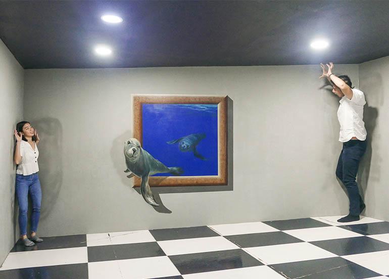 Optical Illusion Art in Island