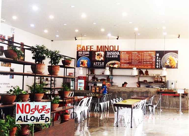 Cafe Minou Interiors and Dining Area