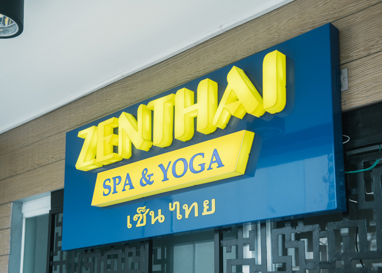 Zenthai Spa & Yoga Exterior and Logo
