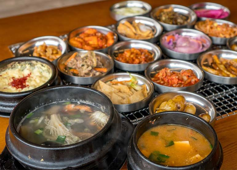 Korean Starters and Banchan (Korean Side Dishes) from Premier the Samgyupsal