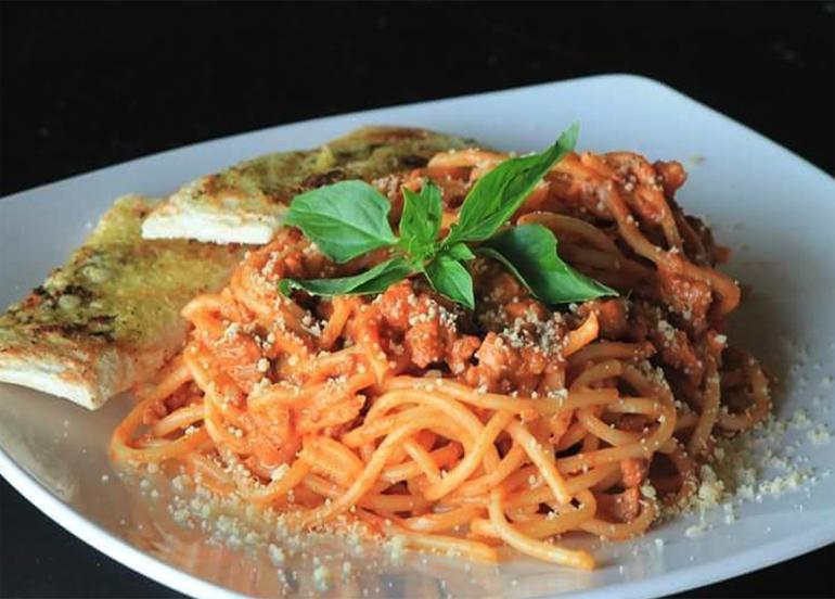 Filipino spaghetti from Cafe Lupe