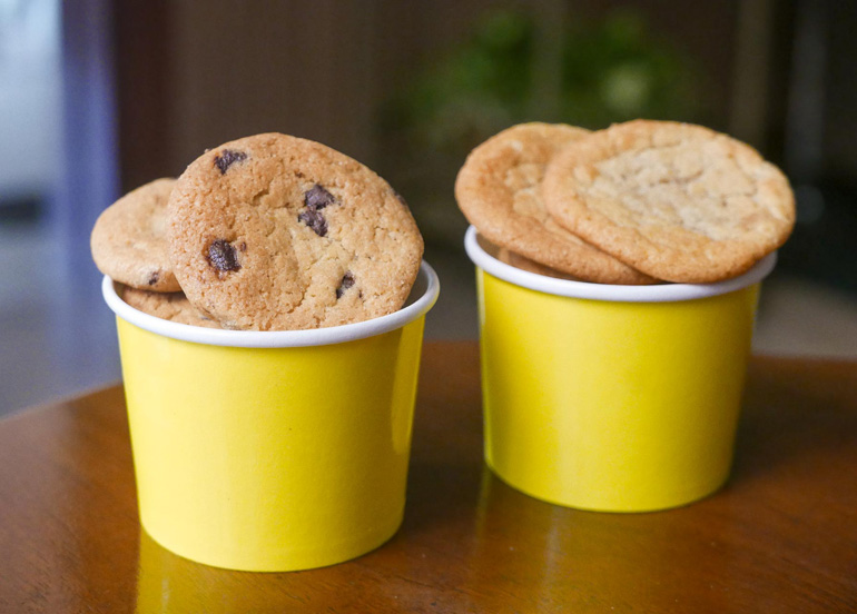 Cookies By The Bucket chocolate chip cookies