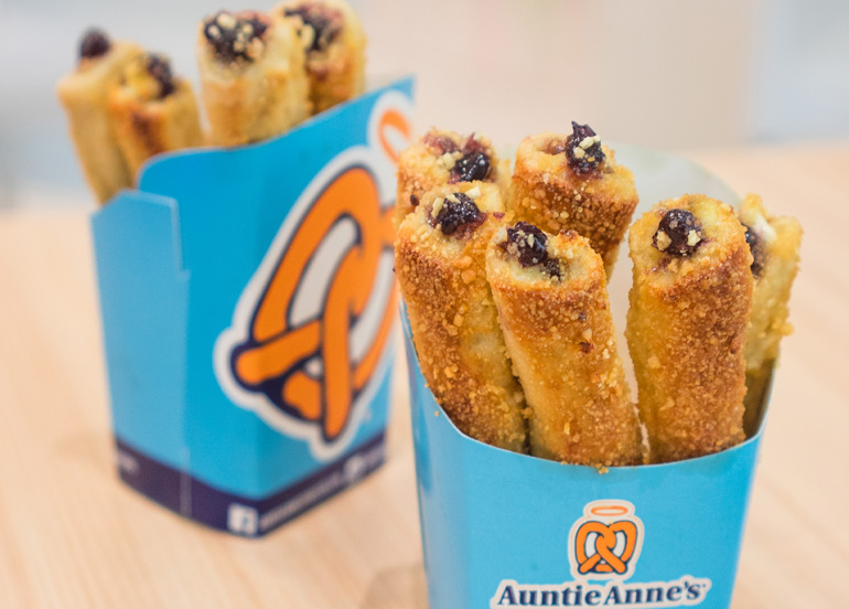 Auntie Anne's Pretzels with cream cheese and chocolate filling