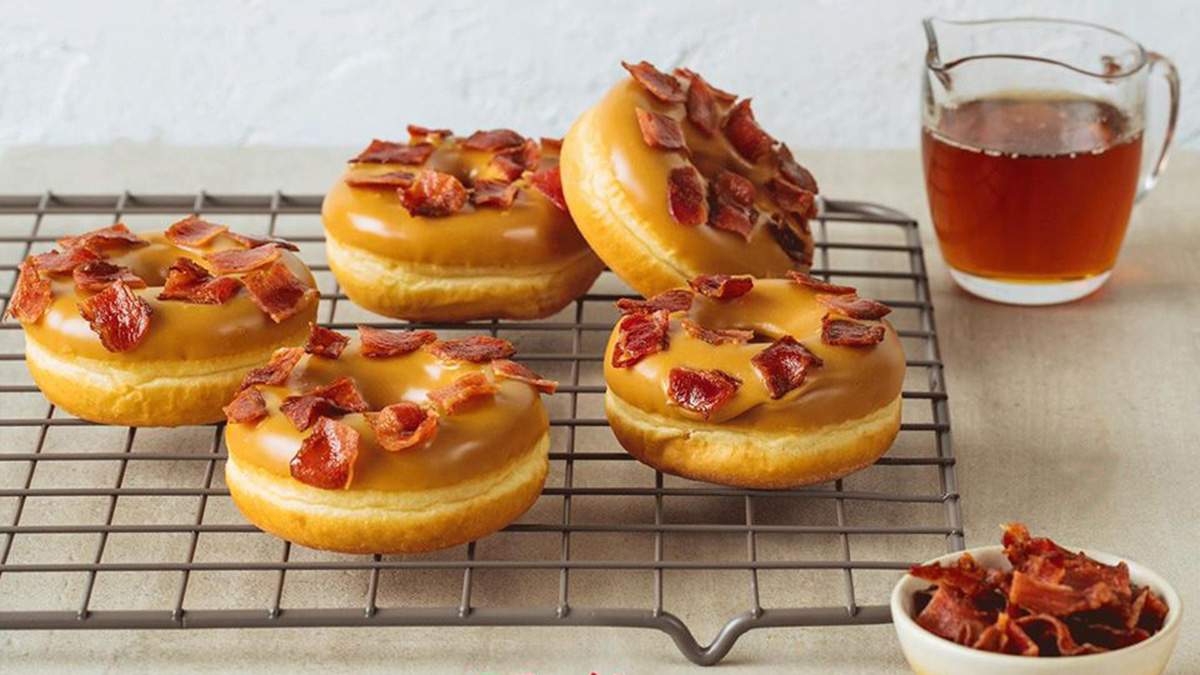Tim Hortons Releases Maple Bacon Donuts Available For Delivery!