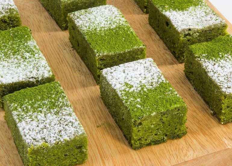 matcha-brownies