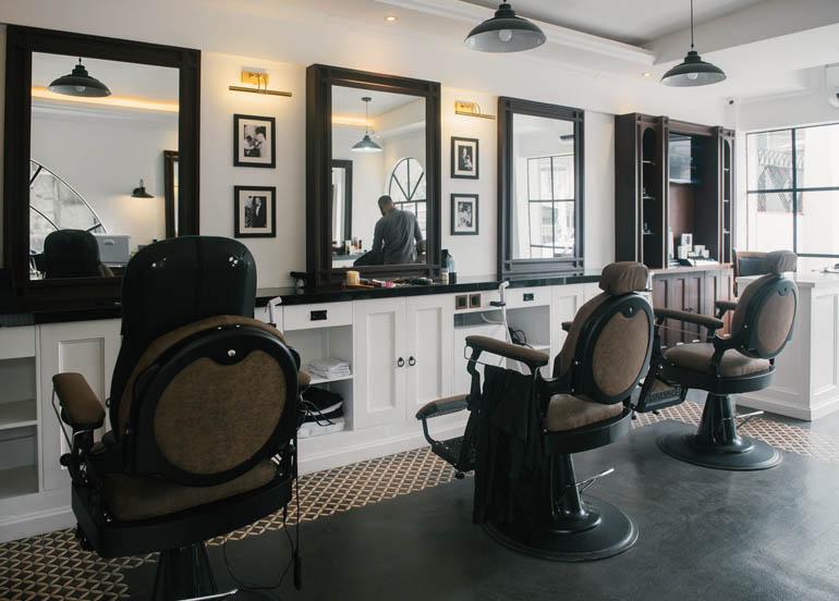My Mama Said Interior with barber chairs