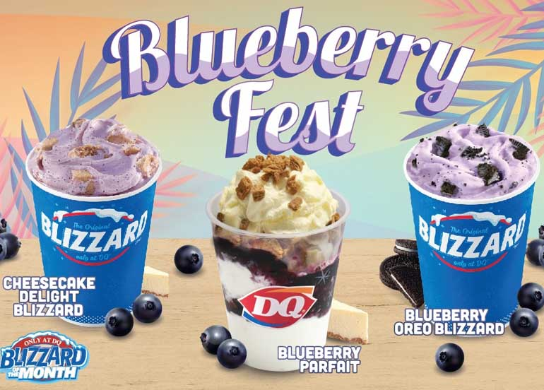 Get Your Blueberry Fix With Dairy Queen's Newest Blizzard Flavors