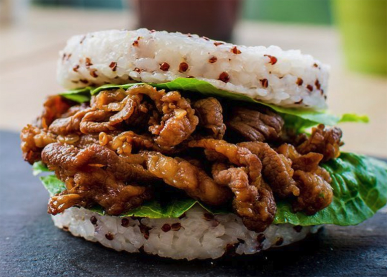 Japan's Trendy Rice Burgers Are Almost Here And We Know Where to Find Them!