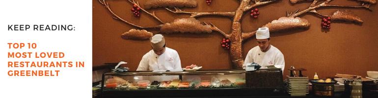 Top 10 Most Loved Restaurants in Greenbelt Blog Banner