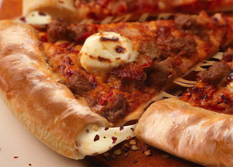 Pizza Hut's New Stuffed Crust Pizza Has Chili Flakes and Cheese Inside