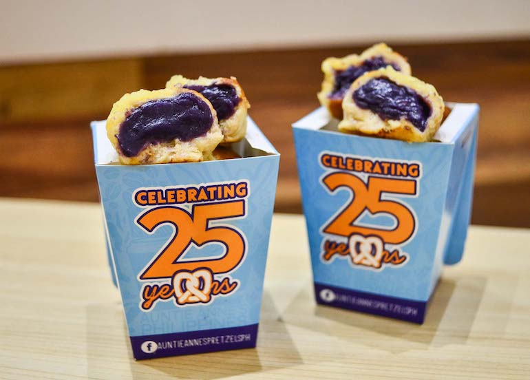 Auntie Anne's Now Offers Ube Cheese Bites And It Tastes As Good As It Sounds