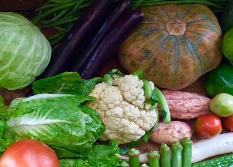 The Murang Gulay Shop assortment of vegetables