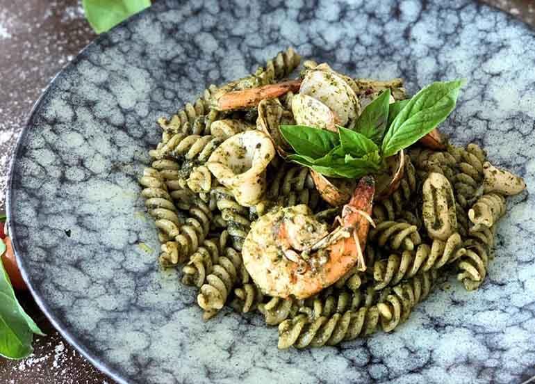 Pesto Seafood Fusilli from Da Gianni
