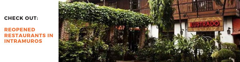 Reopened Restaurants in Intramuros Blog Banner