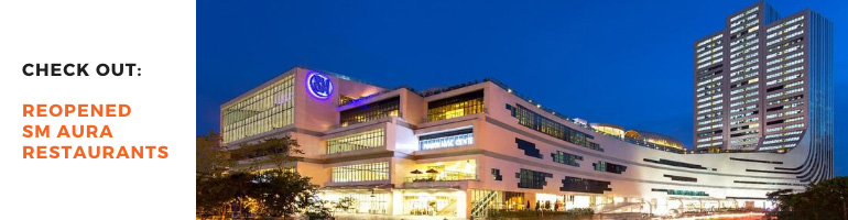Reopened SM Aura Restaurants Blog Banner