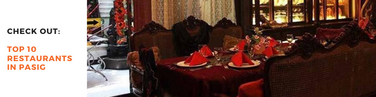 Top 10 Restaurants in Pasig Blog Banner