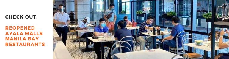 Reopened Ayala Malls Manila Bay Restaurants Blog Banner