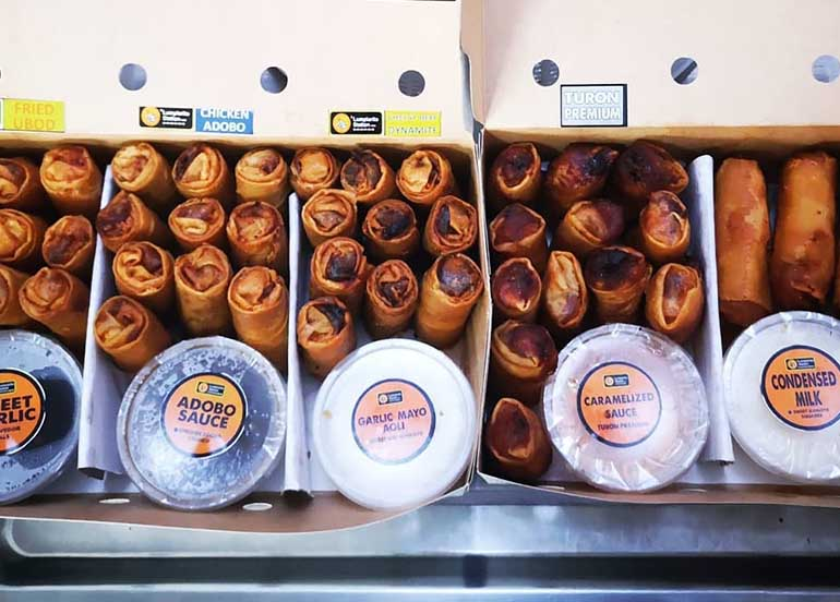 Lumpiarito Station Offers the Complete Lumpia Package With Assorted Flavors and Sauces